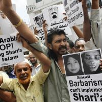 Furious: Sri Lankan Muslims demand a pardon for Rizana Nafeek in 2011. Nafeek, who was sentenced to death after an infant died in her care, was beheaded Jan. 9. | AP