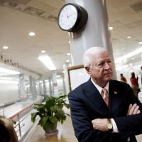 Not much longer: Sen. Saxby Chambliss waits to speak with reporters on Capitol Hill on Nov. 16. | AP