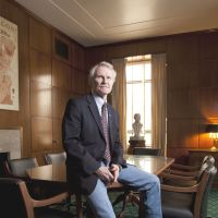 Betting the house: Gov. John Kitzhaber, in his office in Salem, Oregon, covered a budget gap by promising slower growth in Medicaid costs. | WASHINGTON POST