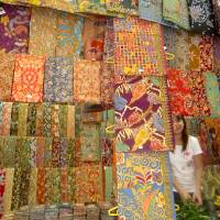 Fabrics galore at the city-center Bogyoke Aung San Market. | JEFF KINGSTON