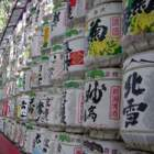 Sake barrels at shrines