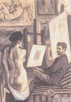 'Rops in His Atelier With His Model' (1878-81)