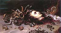'Head of Medusa' (1617/18) by Peter Paul Reubens Archimboldo