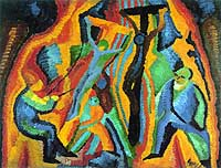 'Crucifixion' (1913) by Wilhelm Morgner