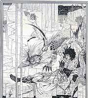 'How King Arthur Saw the Questing Beast' by Aubrey Beardsley