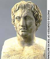 A bust of Alexander the Great (Roman copy of ca. 330 B.C. original)