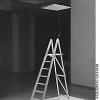 Yoko Ono's installation 'Ceiling Painting (Yes Painting)' (1996), currently on display at Art Tower Mito.