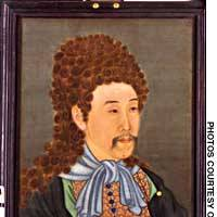 A portrait of the Yongzhen Emperor in European dress
