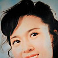 Acrylic on canvas of Fang Shu (2003) from Zhou Tiehai's series, 'Movie Start of the '80s'