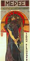 1898 poster for the play 'Medea'