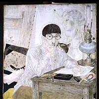 'Self Portrait at Atelier' (1926)