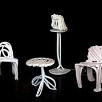 Front, a female foursome from Sweden, produce furniture by sketching in mid-air while a computer tracks their motions.