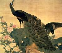 Okyo's 'Peonies and Peacocks' | COURTESY OF NARA PREFECTURAL MUSEUM OF ART