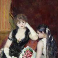 'A Box at the Theater (At the Concert)' by Pierre-Auguste Renoir (1880) | STERLING AND FRANCINE CLARK ART INSTITUTE, WILLIAMSTOWN, MASSACHUSETTS, USA