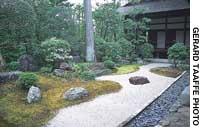 Three of the many delights of Myoshinji temple in Kyoto are the dry-landscape garden at the Daishinin sub-temple.