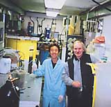 Fred Koch with volunteer researcher Go Kosugi, an Iwate University graduate preparing to take another degree in Canada.
