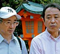 Taiji City Assemblymen Junichiro Yamashita (left) and Hisato Ryono have broken ranks to condemn locally caught 'toxic' dolphin, whose meat is being served in school lunches in their area of Wakayama Prefecture and elsewhere. | BOYD HARNELL PHOTO