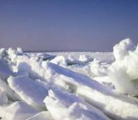 Sea ice piles up in a symphonic cacophony in the Sea of Okhotsk on Hokkaido's northern shores
