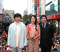 Jackie Chan meets the masses at PIFF Square in Pusan