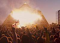 The main Pyramid Stage at Glastonbury Festival | (R)2006 GLASTONBURY FESTIVALS LIMITED; (R)2006 NEWHOUSE NITRATE PRODUCTION LIMITED