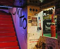 $1,000,000 Lion's mixed interiors and skate ramp make it a draw for local artists, writers and skaters. One of the bar's themed areas (below) offers a love hotel ambience. | KRISTIAN HAGGBLOM PHOTOS