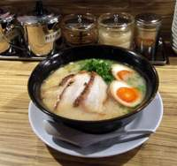 Takada's  tonkotsu ramen  and various condiments | ORLANDO MATKIN PHOTO