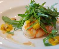 The king prawn and mango salad at Salt | ROBBIE SWINNERTON PHOTOS