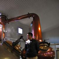 The copper stills  at Chichibu Distillery in Saitama Prefecture. | MELINDA JOE