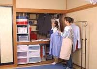 Noriko Kondo demonstrates how a closet can be easily reorganized to make far better use of the available space.