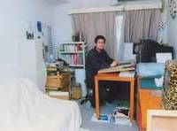 Kenji Asada in his workroom