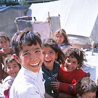 One of Yoshitomo Nara's photos of Afghan children from the pages of Foil