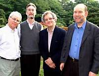 The Juilliard String Quartet in Tokyo recently, from left to right: Joel Smirnoff, Ronald Copes, Joel Krosnick and Samuel Rhodes