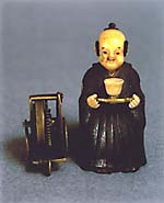 A late Edo Period  clockwork chahakobi tea-serving automaton