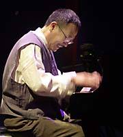 Yosuke Yamashita pounds the ivories with his trademark 'attack.'