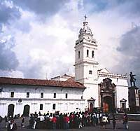 Formerly a haunt of pickpockets, the Plaza of Santo Domingo is today a bustling a square where locals kill time waiting for buses by watching street performers. The church is one of Quito's oldest; construction began in 1581 and was completed in 1650.