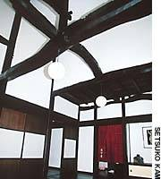 The beautiful entrance hall of the Kobuchi house