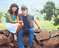 Robert Whiting and his wife, Machiko, on holiday  in Kenya in 1987