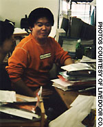 Horie at age 23, just after he started his Web-site consultancy Livin' on the Edge while he was still a University of Tokyo student.