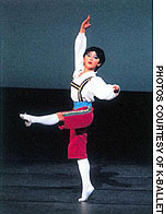 Tetsuya Kumakawa on stage at the Yoshiko Hisatomi Ballet Institute in Sapporo at around age 11