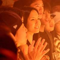 Japanese fans in a dance trance