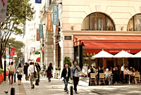 An open-air cafe in Omotesando. one of Tokyo's most fashionable districts.