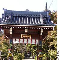 Kairyuji Temple's gate keeps out evil, like a spiritual metal detector.