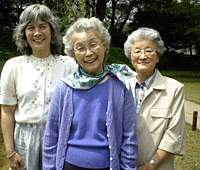 Mary Matsuda Gruenewald (center), shown with her daughter Martha and sister-in-law Miyoko, has written 'Looking Like the Enemy: My Story of Imprisonment in Japanese-American Internment Camps,' telling of the fear and hardship her family faced.