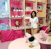 Miki Hiradate in the Tokyo salon of her market-research firm Hime & Company, whose all-female staff she treats in considerate ways that most women workers in Japan could only dream of. | YOSHIAKI MIURA PHOTO