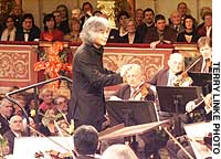 Seiji Ozawa conducting the Vienna Philharmonic on New Year's Day