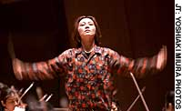 Tomomi Nishimoto rehearses Jan. 10 with the New Japan Philharmonic at Sumida Triphony Hall in Kinshicho, Tokyo.