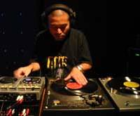 Ryo Kato, aka DJ Klock, on the decks