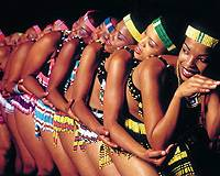 Dancers in 'Umoja' perform the Venda snake dance.