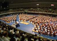 Kobe's first 1,000-cellists concert, in 1998 | INTERNATIONAL CELLO ENSEMBLE SOCIETY PHOTO