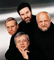 The Alban Berg Quartett are (clockwise from bottom left) Valentin Erben, Thomas Kakuska, Gerhard Schulz and Gunter Pichler.